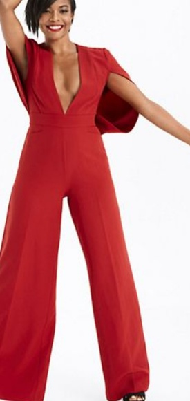 dc8ec467495b Gabrielle Union collection-Red cape jumpsuit